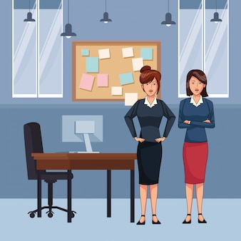 Businesswomen avatar cartoon character