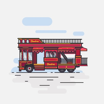 Buss bandung raos плоский дизайн