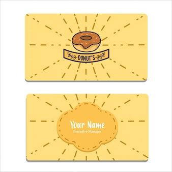 Bussines card invitation donuts theme orange color