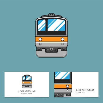 Bussiness card with train logo