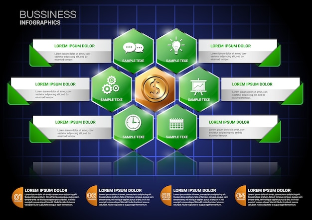 Bussiness infographic template.vector
