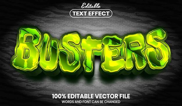 バスター テキスト、フォント スタイル編集可能なテキスト効果