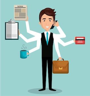 Busy person design