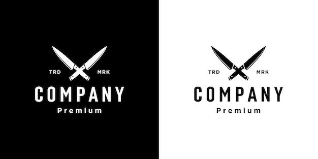 Butcher knife logo design vector