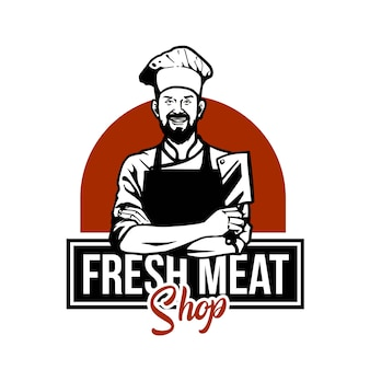 Butcher meat illustration