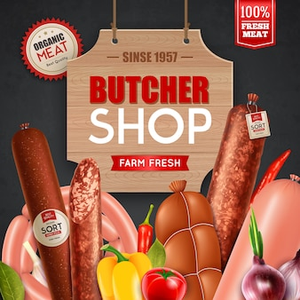 Butcher shop advertisement