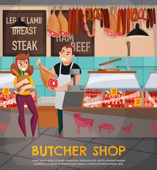 Butcher shop illustration