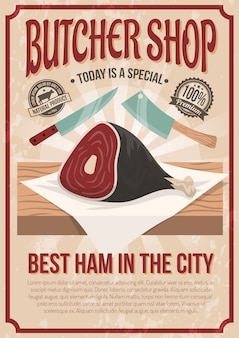 Butcher shop poster