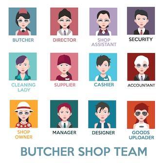 Butcher shop team