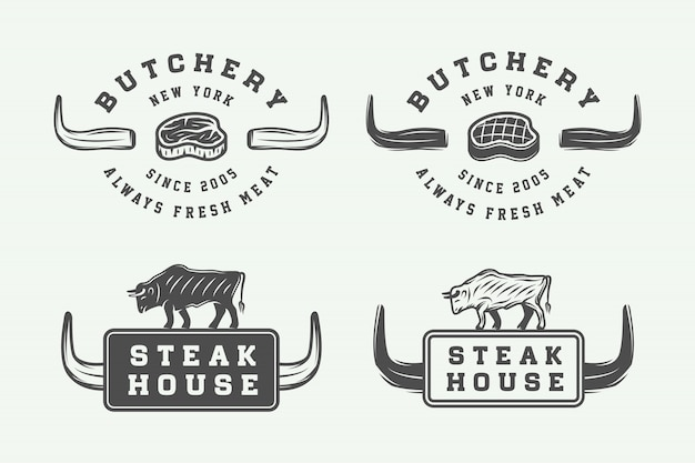 Butchery meat logos