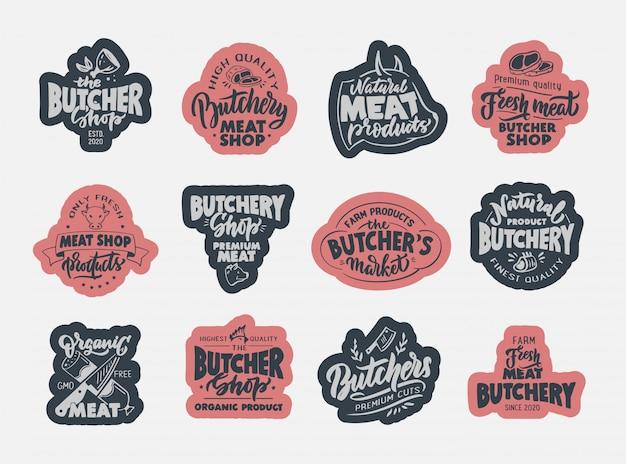 Мясной магазин, мясной магазин, этикетка свежего мяса