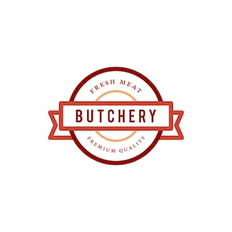 Butchery shop logo design illustration