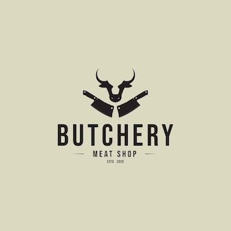 Butchery  vintage logo concept