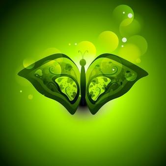 Зеленый buttefly с боке фоне