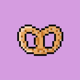 Butter cookies with pixel art style