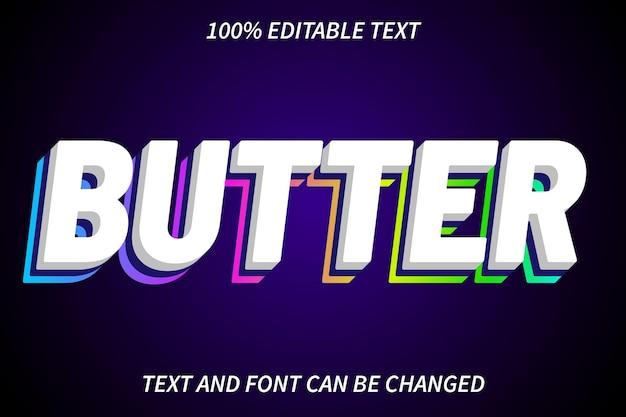 Butter editable text effect modern style