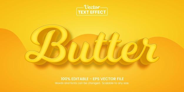 버터 옐로우, 편집 가능한 텍스트 효과