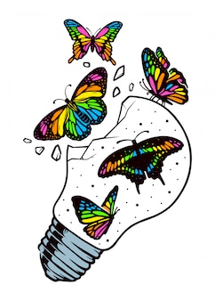 Butterflies are free to fly illustration