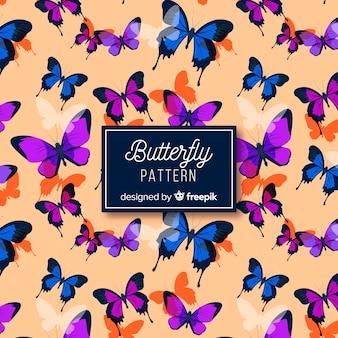 Butterflies flying background
