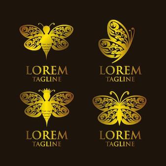 Butterflies logo templates collection