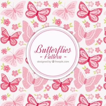 Butterflies pattern Premium Vector
