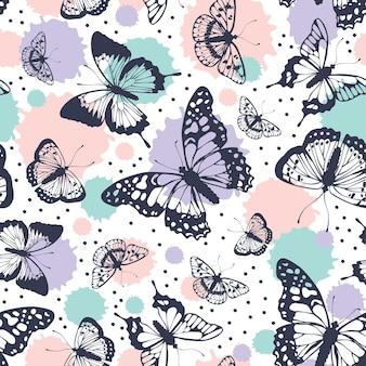 Узор бабочек.
