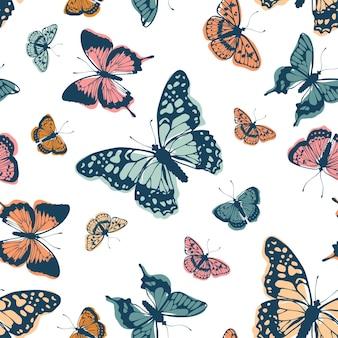 蝶のパターン。