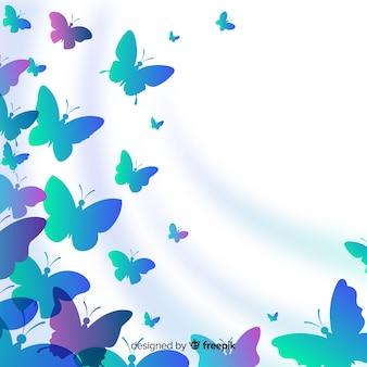蝶のシルエット