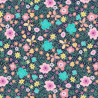 Butterflies and spring pattern