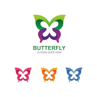Butterfly abstract logo template