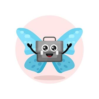 나비 가방 마스코트 캐릭터 로고