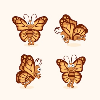 Butterfly cartoon cute animals