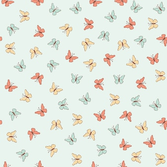 Butterfly cloth spring seamless pattern