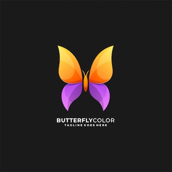 Butterfly color awesome logo.