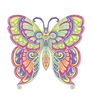 Butterfly colorful mandala design