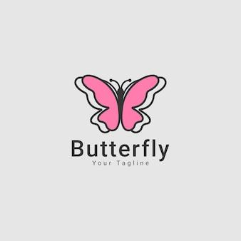 蝶の概念的なシンプルなカラフルなアイコンロゴ動物