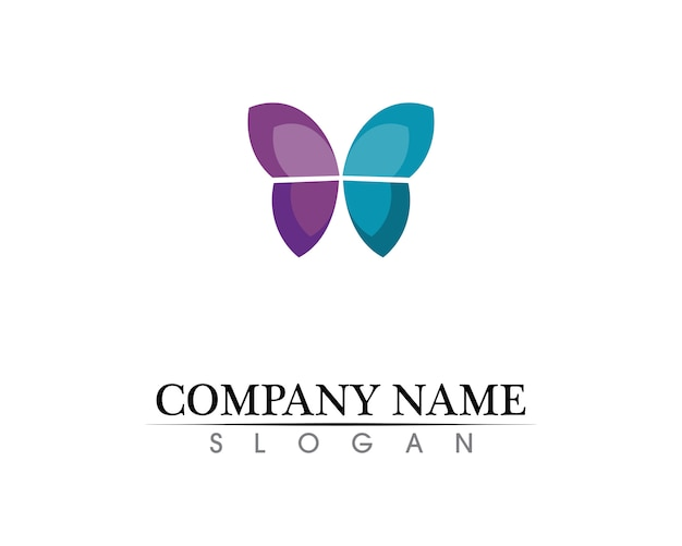 Butterfly conceptual simple, colorful icon. logo.
