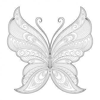Butterfly decorative element.