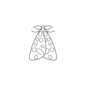 Значок бабочки в линейном минималистском модном стиле. векторные контурные иллюстрации насекомых-моли для создания логотипов салонов красоты, маникюра, массажа, спа, украшений, татуировок и художников ручной работы.