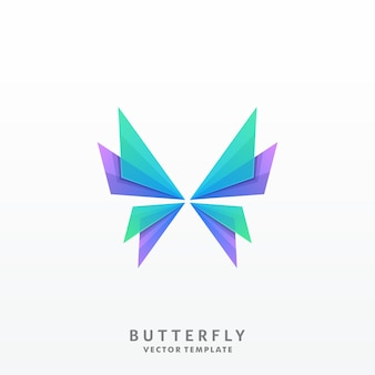 Butterfly illustration vector template
