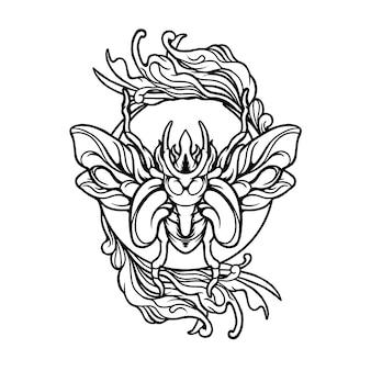 Иллюстрация бабочки