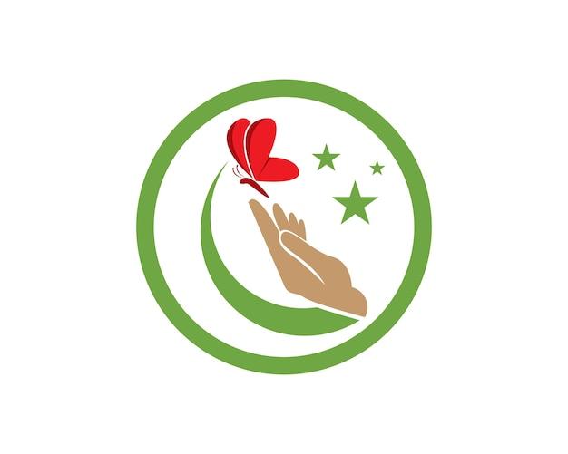 ロゴデザインのバタフライ