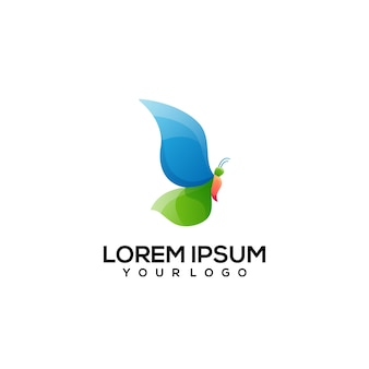 Butterfly logo design colorful