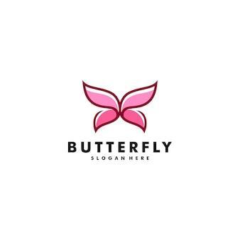 나비 로고 디자인 벡터 동물 아이콘 로고