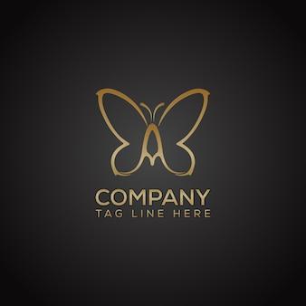 나비 로고 디자인 벡터