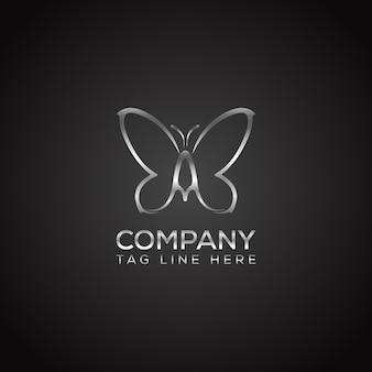 蝶のロゴのデザインベクトル