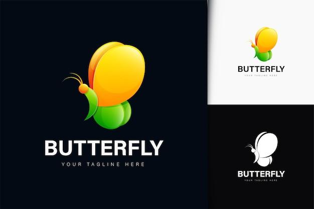 Дизайн логотипа бабочка с градиентом