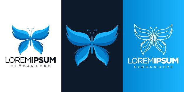 Дизайн логотипа бабочка