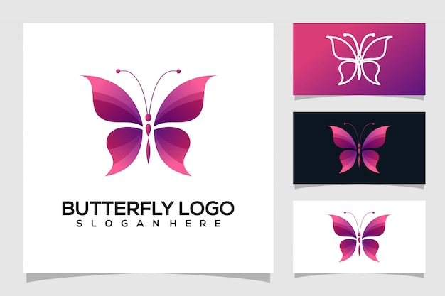 蝶のロゴデザイン