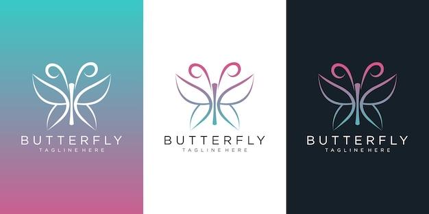 蝶のロゴデザイン。